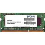 Модуль SO-DDR3 RAM 4096MB PC-12800 Patriot PSD34G160082S модуль памяти DDR3 SO-DIMM, объем 4 Гб, частота 1600 МГц