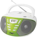 Портативная аудиосистема BBK BX193U (белый/зеленый)