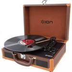 Виниловый проигрыватель ION Audio Vinyl Motion Deluxe (коричневый)