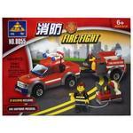 Конструктор Kazi Пожарный джип 8055