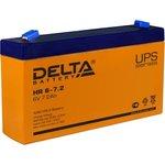 Аккумулятор Delta HR 6-7.2 (6V, 7.2Ah)