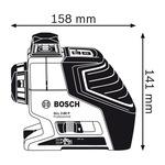 Лазерный нивелир Bosch GLL 2-80 P (с держателем BM 1 и приемником LR 2) (0601063209)