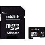Карта памяти Addlink microSDHC 16GB (Class 10) + адаптер [AD16GBMSH310A]