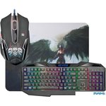 Мышь + клавиатура + коврик Defender Reaper MKP-018 RU