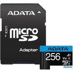 Карта памяти A-Data Premier AUSDX256GUICL10A1-RA1 microSDXC 256GB (с адаптером)