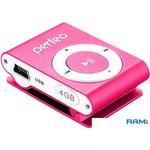 MP3 плеер Perfeo VI-M001-4GB Music Clip Titanium Pink