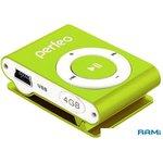 MP3 плеер Perfeo VI-M001-4GB Music Clip Titanium Green