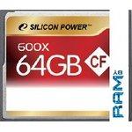 Карта памяти Silicon-Power CompactFlash 600X 64 Гб (SP064GBCFC600V10)