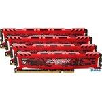 Оперативная память Crucial Ballistix Sport LT 4x16GB DDR4 PC4-24000 BLS4K16G4D30AESE