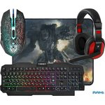 Клавиатура + мышь с ковриком + наушники Defender Target MKP-350