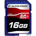 Карта памяти Silicon-Power SDHC Class 4 16 Гб (SP016GBSDH004V10)