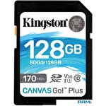 Карта памяти Kingston Canvas Go! Plus SDXC 128GB