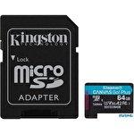Карта памяти Kingston Canvas Go! Plus microSDXC 64GB (с адаптером)