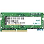 Оперативная память Apacer 4GB DDR3 SO-DIMM PC3-12800 [AS04GFA60CATBGJ]
