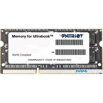 Оперативная память Patriot Memory for Ultrabook 4GB DDR3 SO-DIMM PC3-12800 (PSD34G1600L2S)