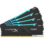 Оперативная память HyperX Fury RGB 4x32GB DDR4 PC4-25600 HX432C16FB3AK4/128