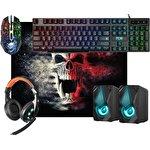 Клавиатура + мышь с ковриком + наушники + колонки Defender Tor MHP-127