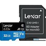 Карта памяти Lexar 633x microSDHC LSDMI32GBB633A 32GB (с адаптером)