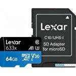 Карта памяти Lexar 633x microSDXC LSDMI64GBB633A 64GB (с адаптером)