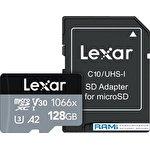 Карта памяти Lexar microSDXC LMS1066128G-BNANG 128GB (с адаптером)