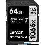Карта памяти Lexar Professional 1066x SDXC LSD1066064G-BNNNG 64GB