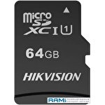 Карта памяти Hikvision microSDHC HS-TF-C1(STD)/64G 64GB