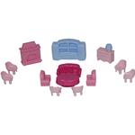Набор мебели для кукол №4 (13 элементов в пакете)