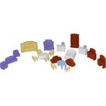 Набор мебели для кукол №5 (21 элемент в пакете)