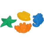 Формочки (краб №2 + морская звезда №2 + ракушка №2 + морской конёк) 53831