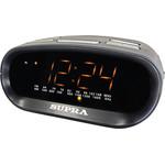 Часы-будильник с радио Supra SA-32FM черный с янтарным