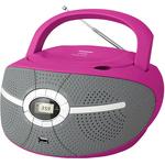 Аудиомагнитола BBK BX195U Pink