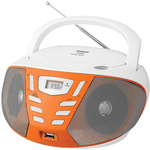 Аудиомагнитола BBK BX193U White/Orange