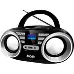 Аудиомагнитола BBK BX160BT черный/металлик