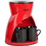 Кофеварка Delta Lux DL-8131 черный/красный