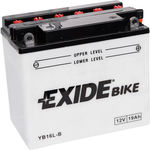 Мотоциклетный аккумулятор Exide Conventional YB16L-B (19 А/ч)
