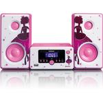 Музыкальный центр Lenco MC-020 Princess розовый