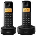 Радиотелефон PHILIPS D1302B/51 Black (2 трубки)