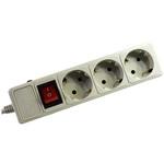 Сетевой фильтр SVEN Surge Protector Optima Base 3.0 m Grey