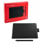 Графический планшет Wacom Bamboo One Small (CTL-472-N) Black-Red RTL