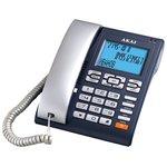 Телефон проводной AKAI AT-A25 (черный, серый)