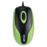Мышь Delux DLM-363B Green, Black