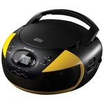 Аудиомагнитола Supra BB-CD121U черный/желтый