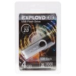 USB Flash 4 Gb Exployd 530 EX-4GB-530-Red