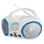 Аудиомагнитола BBK BX150BT белый/голубой