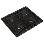 Газовая варочная поверхность Electronicsdeluxe 5840.00-006гмв ЧР черный глянец
