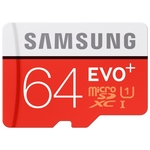 Карта памяти Samsung EVO+ microSDXC 64GB + адаптер (MB-MC64DA)