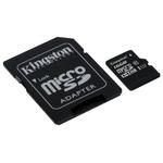 Карта памяти Kingston microSDHC UHS-I (Class 10) 16GB + адаптер [SDC10G2/16GB]
