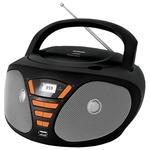 Аудиомагнитола BBK BX180U Black/Orange