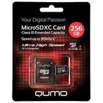 Карта памяти QUMO QM256GMICSDXC10U1 microSDXC 256GB + адаптер