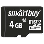 Карта памяти Smart Buy microSDHC (Class 10) 4 Гб (SB4GBSDCL10-00)